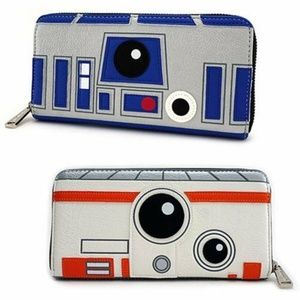 Loungefly Star Wars R2D2 BB8 Two Sided Wallet NEW